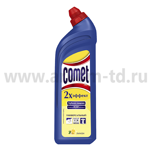 Чистящее средство для сантехники Комет-гель 1л (Лимон)