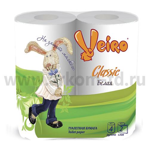 Бумага туалетная Виеро белая/бежевая (2сл)