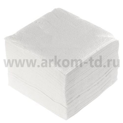 Салфетки бумажные 100шт./24х24см белые (1сл)
