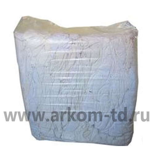 Ветошь ХБ - белое постельное белье (10кг/уп.)