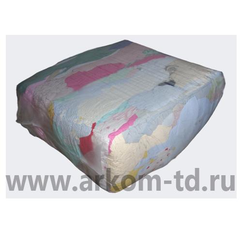 Ветошь ХБ - цветное постельное бельё (10кг/уп.)
