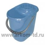 Ведро 13л МОП прямоугольное голубое