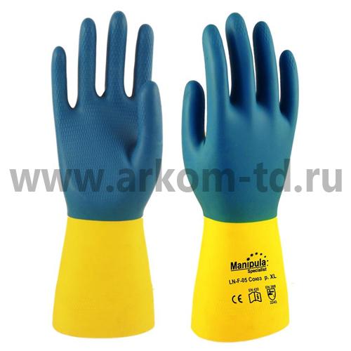Перчатки каучуковые LNF-05 Союз Manipula