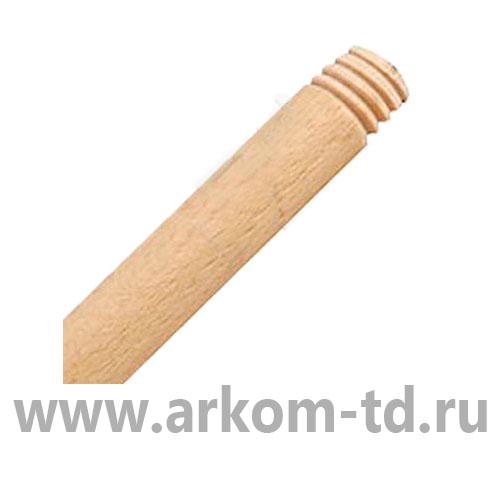 Черенки деревянные для швабр с резьбой d=22мм