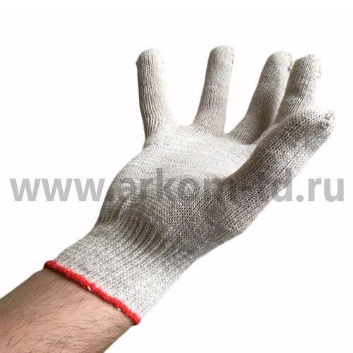 Перчатки хб 5 нитей 10 класс БЕЛЫЙ