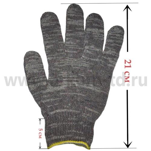 Перчатки хб 4 нити 10 класс БЕЛЫЙ