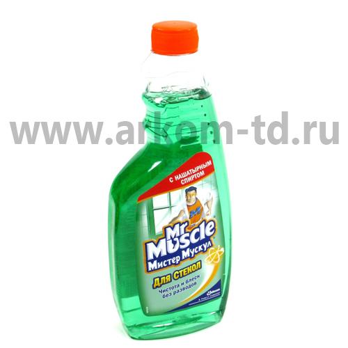 Средство для стекол Мистер Мускул ЗЕЛЕНЫЙ 500 мл запасной блок