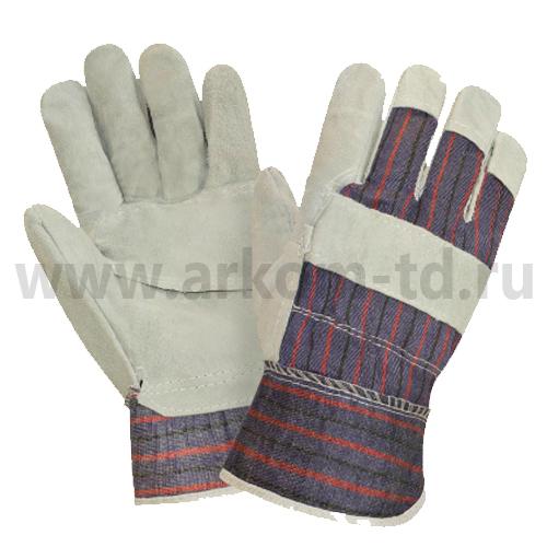 Перчатки спилковые комбинированные Ангара арт.0115