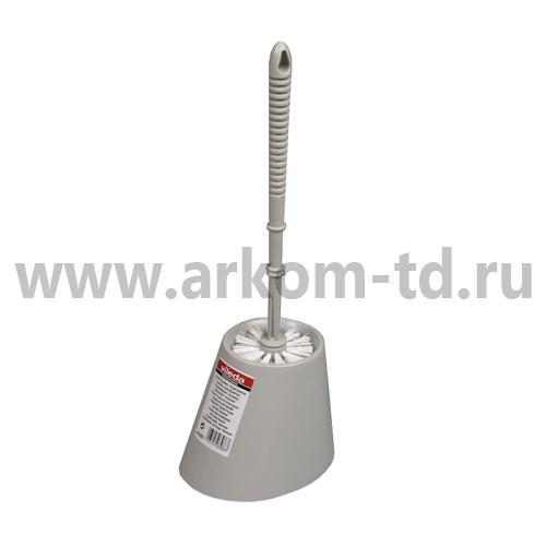 Ерш для туалета с подставкой серый арт. 100837/100272 Виледа