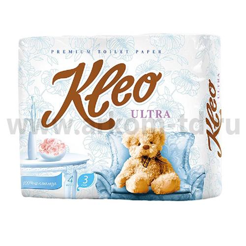 Бумага туалетная Клео Ультра (Kleo Ultra) 3сл.