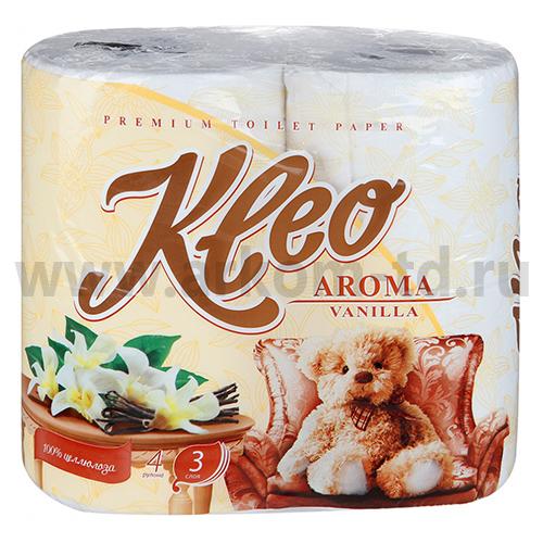 Бумага туалетная Kleo Aroma 3сл. Ваниль