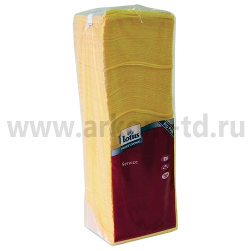Салфетки бумажные Lotus 25*25см 500шт. Желтые SALE!
