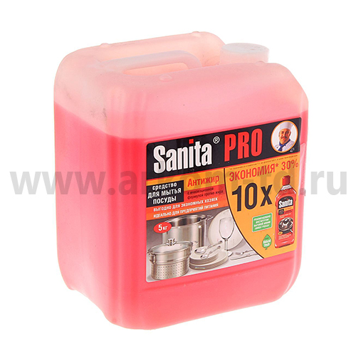 Чистящее средство Санита Антижир Гель для посуды 5кг