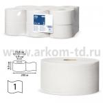Бумага туалетная 200м Tork T2 белая (1сл)