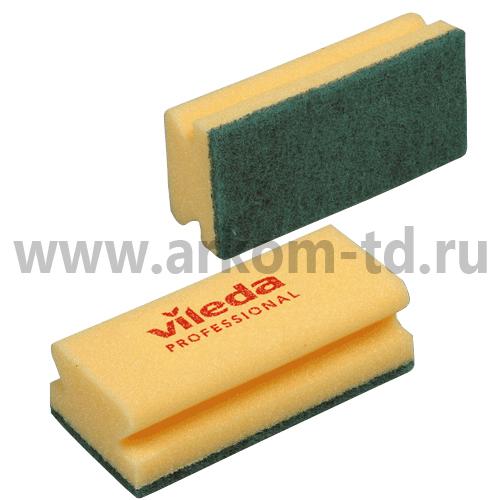 Губка (зеленый абразив) 7*15 см арт. 101397/101404 Виледа
