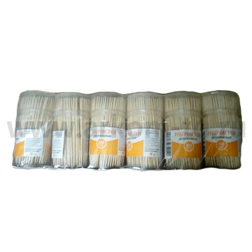 Зубочистки в пластмассовой упаковке 200шт./уп. SALE!